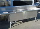 "Stainless Steel Washing Table, 106"" x 30"""
